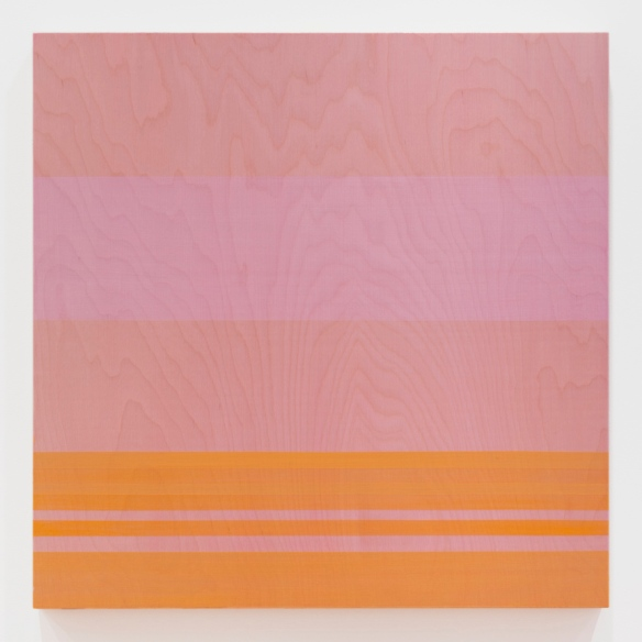"Rose Olson — Source, acrylic on Baltic Birch veneer, 28 x 28 x 2"", 2013"