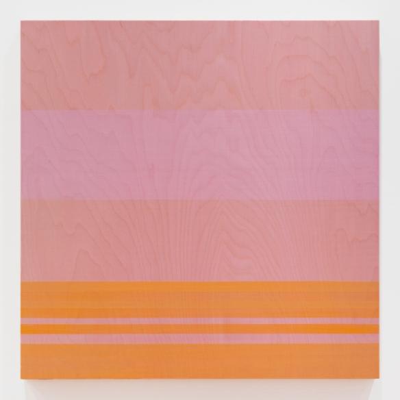 "Rose Olson — Source, acrylic on Baltic Birch veneer, 28 x 28 x 2"", 2013"