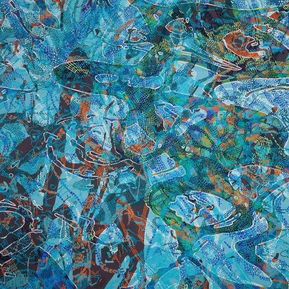 "Lynda Schlosberg—Allowance, acrylic on panel, 12 x 12"""