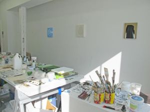 Mary Bucci McCoy's studio at the Vermont Studio Center
