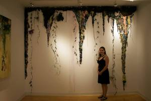 Sarah with her installation at Kingston Gallery.