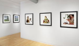 Installation view, L-R, two works from Wendy's