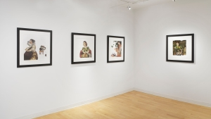 Installation view, Kingston Gallery, works from Wendy's