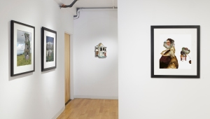 Installation view, Free Association, L-R works by Wendy Seller, Meghan Chase, and Wendy Seller.