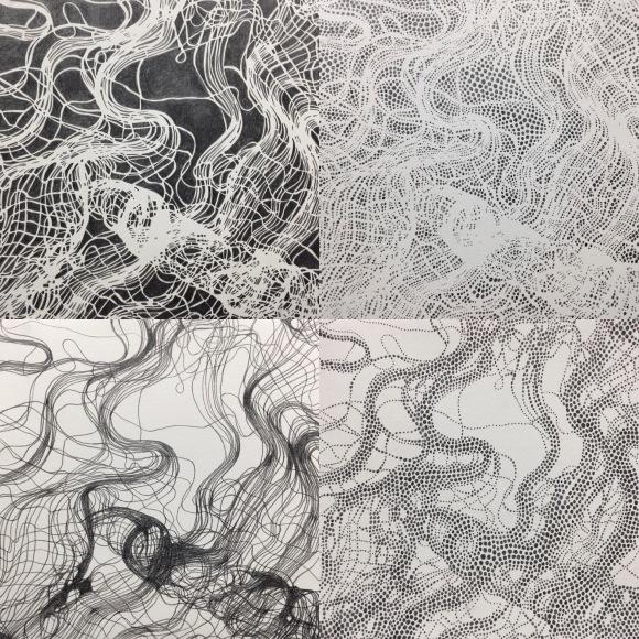 schlosberg-grid-of-four-pencil-drawings